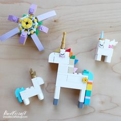 Doodlecraft: How to Build: Lego Unicorn ways! How to Build: Lego Unicorn ways! Lego Unicorns are the best! I found a severe lack of Unicorn Lego instructions and decided to make … Lego Design, Crafts For Teens To Make, Diy For Kids, Lego Projects, Projects For Kids, Lego Challenge, Lego Club, Lego Craft, Lego For Kids