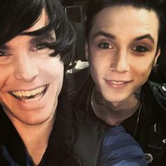 Onision and Andy Biersack. Two of my favorite people in one picture