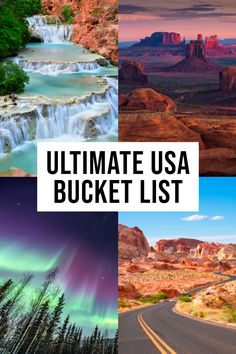 The BEST USA Bucket List! : The best destinations in the USA to add to your bucket list Planning a trip and looking for the best USA bucket list destinations? This comprehensive list has some of the top things to see, do and eat across America. Cool Places To Visit, Places To Travel, Places To Go, Time Travel, Best Vacation Places, Vacation Spots, Camping Places, Vacation Travel, Travel Stuff