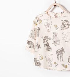 SHINY ANIMALS T-SHIRT-T-shirts-Baby girl (3 months-3 years)-KIDS | ZARA United Kingdom