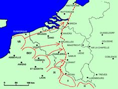 Map showing Dunkirk rescue locations World Wars I