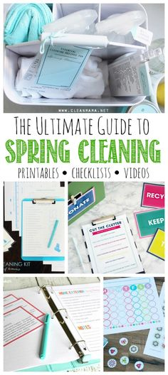 Amazing Spring Cleaning printable package!! Everything you need to get your home sparkling and refreshed for spring!