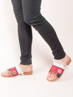 Our Turkish kilim rug loafers are one of a kind. Handmade with a wool upper, leather lining/interior and a inch raise. They are great for dressing up or dressing down.