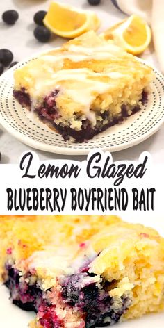I don't know whether Lemon Glazed Blueberry Boyfriend Bait will get you a boyfriend, but it will definitely make the boyfriend or in my case the husband you have extremely happy ! and drinks exercises LEMON GLAZED BLUEBERRY BOYFRIEND BAIT Lemon Desserts, Köstliche Desserts, Delicious Desserts, Yummy Food, Desserts With Blueberries, Frozen Blueberries, Dessert Dips, Dessert Bread, Baking Recipes