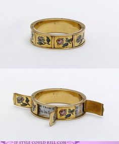 Ring of the Day: Hymne a L'amour A vintage ring with hidden French love notes!