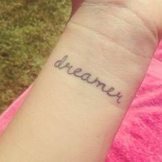 dreamer wrist tattoo http://tattoos-ideas.net/dreamer-wrist-tattoo/