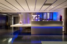 Reception Office by Puntdefuga , via Behance