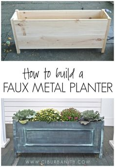 How to build a faux metal planter