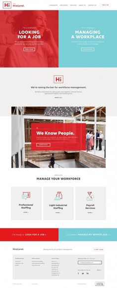 Hire level recruiting job website webdesign beautiful minimal business award…