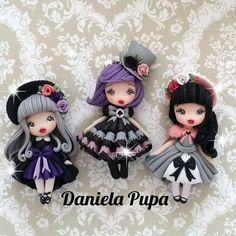 #gothiclolita #handmade #dolls  #danielapupa #polymerclay #jewels #fimodoll #dollstagram #fimo #clay
