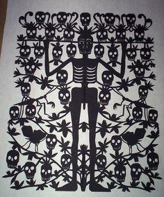 Margarita Fick Papel Picado Skeleton and Skulls