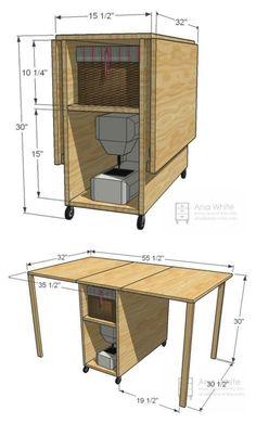 super ideas for diy muebles ideas sewing machines Diy Furniture Plans, Woodworking Furniture, Woodworking Shop, Woodworking Crafts, Woodworking Plans, Woodworking Basics, Woodworking Workshop, Woodworking Classes, Wood Furniture
