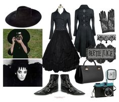 A fashion look from October 2011 featuring lace skirts, goth boots and leather purses. Browse and shop related looks. Lydia Beetlejuice, Beetlejuice Halloween, Clever Halloween Costumes, Halloween 2019, Halloween Makeup, Halloween Party, Estilo Tim Burton, Fandom Fashion, Casual Cosplay