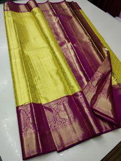 Simple Saree Designs, New Saree Designs, Wedding Saree Blouse Designs, Silk Saree Blouse Designs, Wedding Saree Collection, Designer Sarees Collection, Designer Silk Sarees, Bridal Sarees South Indian, Wedding Silk Saree