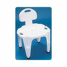 Carex Adjustable. Bath & Shower Seat With Back, Exact Level (RMB65600) Category: Whirlpool and Bathroom Safety Aids by Carex Health Brands. $67.19. Sold Individually. Item #: RMB65600. Can be used in a bathtub or shower stall.Constructed of durable plastic with easy-to-grip handles and molded-in areas for handheld shower spray storage.Flared aluminum legs prevent tipping.Slip-resistant rubber tips grip floor. Sold individually. Customers also search for: Medical Suppli...