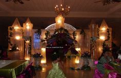 lighted columns and arches, curtain backdrops, unique creations ...