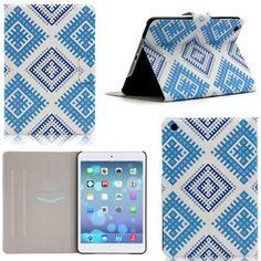 iPad Mini Case - Unibeauty Apple iPad Mini 1/2/3 Smart Case Cover * Auto Sleep/Wake * Slim PU Leather Flip Stand Card Slots with Lovely Gifts [Cleaning Cloth & Stylus Pen], Diamond weaving