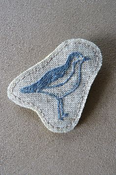 sea bird embroidered brooch by edwardandlilly, via Flickr