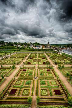 Château Villandry - Indre-et-Loire, France. Villandry is one of the great châteaux built on the banks of the Loire during the Renaissance for Jean Le Breton, Minister of Finance for François I. In 1906, Joachim Carvallo purchased the property and poured an enormous amount of time, money and devotion into repairing its famous Renaissance gardens. In 1934, the Château was designated a Monument Historique and like all the other Loire châteaux, it is a World Heritage Site.