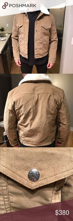 "Acne Studios ""Beat"" Corduroy Jacket Acne Studios ""Beat"" Corduroy with faux shearling collar jacket in khaki color. This jacket is brand new with tags. Size 52 (Large). Retail on it is $560, selling for less. Acne Jackets & Coats Lightweight & Shirt Jackets"