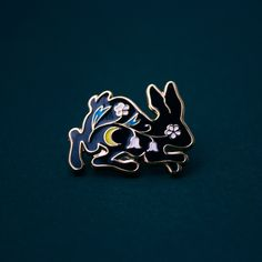 Tiny Bunny pin by Moni
