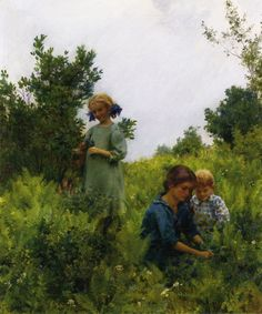 Blueberries and Ferns (Charles Courtney Curran - 1911)