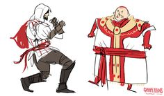 """grapeykins: """" I never realised how much I really wanted a game where I got to punch the pope. Best Assassin's Creed, Assassian Creed, Assassins Creed Funny, Video Games, Fan Art, Anime, Fandoms, Punch, Art Google"""