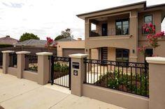 House Fence Design, Modern Fence Design, Modern Small House Design, 2 Storey House Design, Best Exterior House Paint, Dream House Exterior, Exterior House Colors, Exterior Design, Mexico House