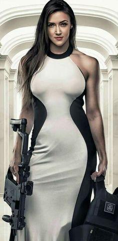Hot Chick with Guns Badass Babe @aegisgears