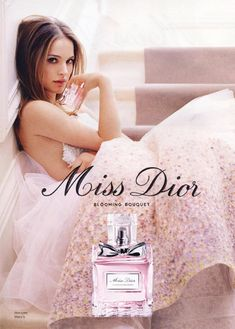 """Natalie Portman Enchants us in the Miss Dior """"Blooming Bouquet"""" fragrance campaign. Don't you just love her?"""
