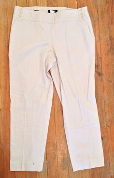 Talbots Cotton Stretch Tan Khaki Signature Side Zip Cropped Capris Pants 12P GUC | eBay - Recycled Couture #Fashion #Apparel #Shopping #eBay