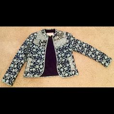 BEAUTIFUL Leifsdottir Jacket from Anthropologie This gorgeous jacket is like new, worn once! It has beautiful quilted detailing as well as a splash of sequins for added fun. Great for work or play! Thanks for looking!  Anthropologie Jackets & Coats Blazers