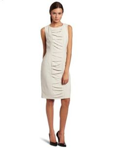 Calvin Klein Women's Pleated Front Dress