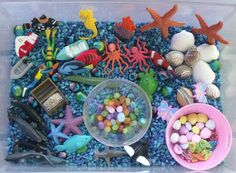Nurturing Naters with learning activities at home: Ocean Sensory Bin