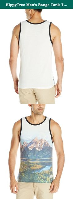 """HippyTree Men's Range Tank Top, Large, White. HippyTree is the original """"surf & stone"""" apparel company. Founded in a Hermosa beach garage in 2004 by a local surfer, climber, and artist, HippyTree is dedicated to designing products and graphics that embody the surf and climbing lifestyle. Marked by the green tree logo, HippyTree is committed to softening its environmental impact by using eco-friendly materials and manufacturing. HippyTree apparel is sold in surf, outdoor, and specialty..."""