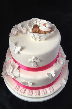 Angel Baby Christening Cake