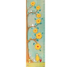 Flower Tree Friends Growth Chart from PoshTots Fabric Growth Chart, Boys Growth Chart, Growth Chart Ruler, Growth Charts, Easy Canvas Art, Kids Canvas, Canvas Wall Art, Friend Canvas, Height Chart