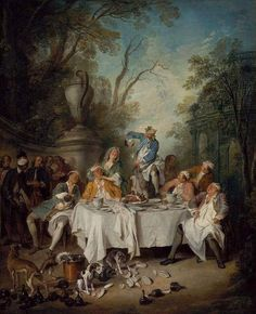 luncheion party with ham nicolas lancret