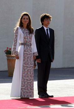 queen rania & Prince Hussein