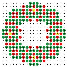 Christmas wreath hama bead pattern from Maria