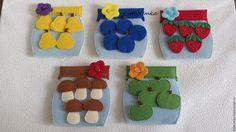 """Купить Развивающая игра """"Домашние заготовки"""" - разноцветный, варенье из фетра, варенье, компот, ягоды"""
