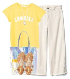 """cute summer basics"" by purplicious ❤ liked on Polyvore featuring Gap, MANGO, Boohoo, Qupid, Clinique and Full Tilt"