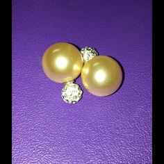 Cream double sided earrings Cute n shine  Jewelry Earrings