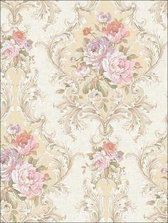 Shabby Chic Wallpaper, Damask Wallpaper, Rose Wallpaper, Pattern Wallpaper, Tapestry Wallpaper, Shabby Chic Farmhouse, Shabby Chic Homes, Shabby Chic Decor, Shabby Chic Furniture
