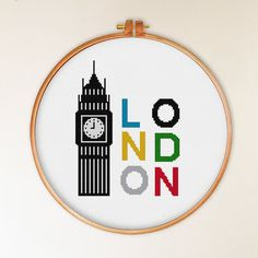 London cross stitch pattern modern cross stitch by ThuHaDesign