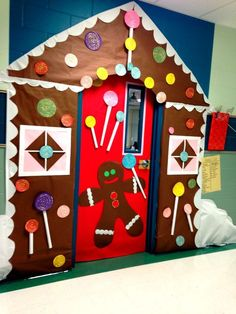 Gingerbread House classroom door!