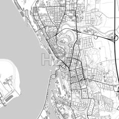 Downtown vector map of Hastings City vector Infographic and