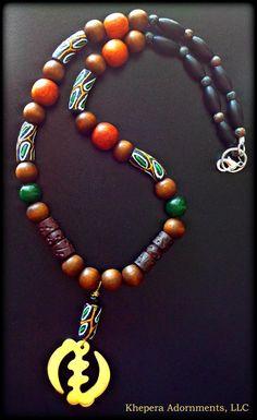 Mens Jewelry  The Supreme One Gye Nyame by KheperaAdornments