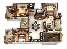 denah rumah minimalis 3 kamar tidur pilihan