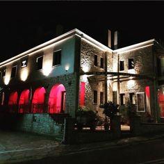Good night from Hotel Rodovoli. #hotelrodovoli #hotels #konitsa #epirus #ioannina #zagori #greece #greece🇬🇷 #grecia #grecia🇬🇷 #visitgreece #hellas #travel #tourism #nights #lights #design #lightingdesign #architecture #rgb #rgblights #stonebuilding #deluxehotel #deluxerooms #nightsky